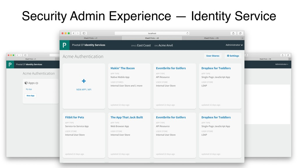 Security Admin Experience — Identity Service