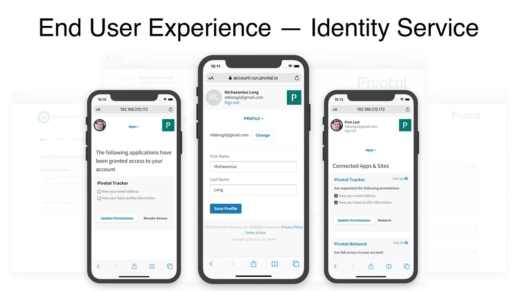 End User Experience — Identity Service