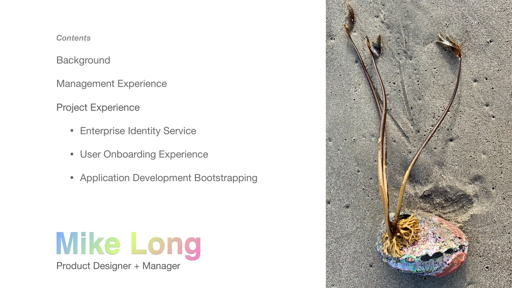 Product Designer + Manager Contents Background ...