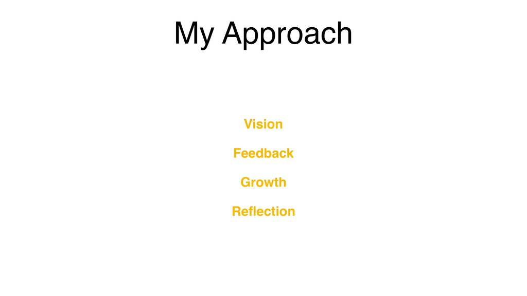My Approach Vision Feedback Growth Reflection