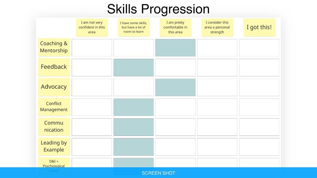 Skills Progression SCREEN SHOT