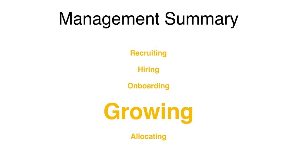 Management Summary Recruiting Hiring Onboarding...