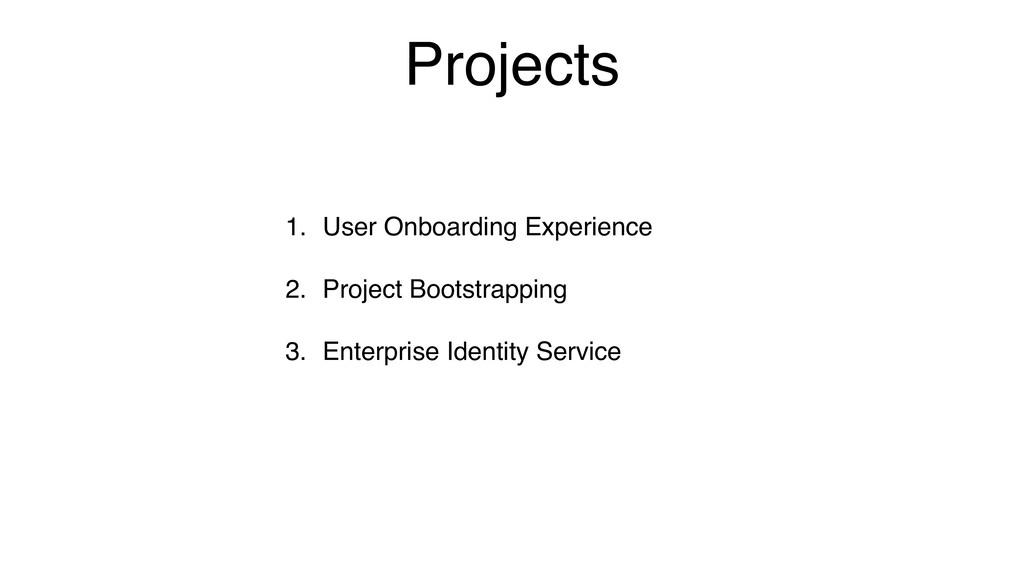 Projects 1. User Onboarding Experience 2. Proje...