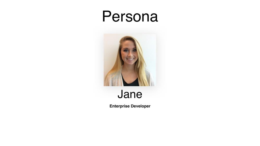 Persona Jane Enterprise Developer