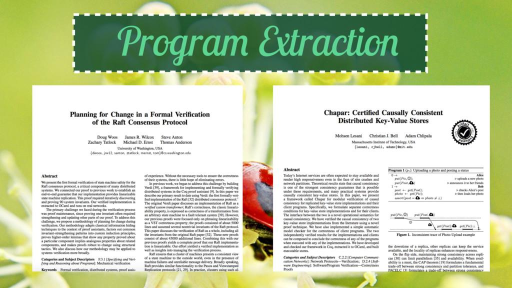 Program Extraction