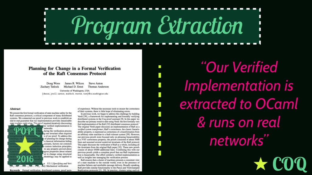 """POPL 2016 """"Our Verified Implementation is extra..."""