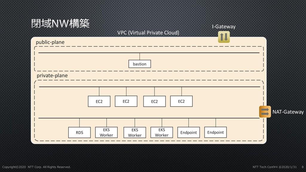 VPC (Virtual Private Cloud) public-plane privat...