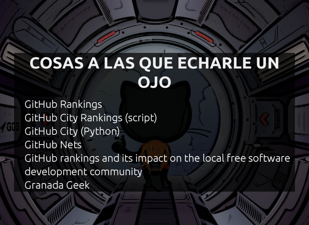 COSAS A LAS QUE ECHARLE UN OJO GitHub Rankings ...