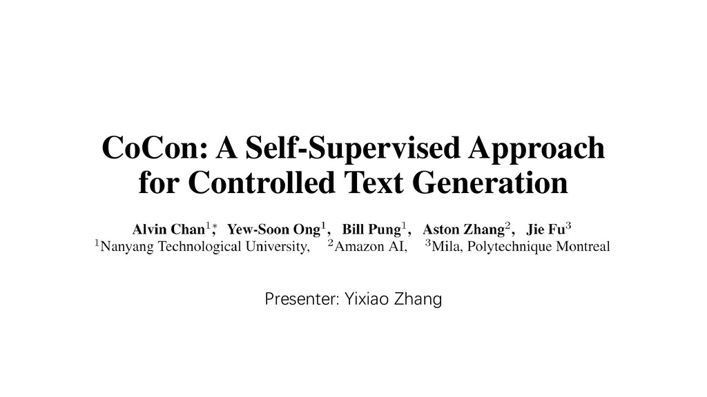 CoCon: A Self-Supervised Approach for Controlle...