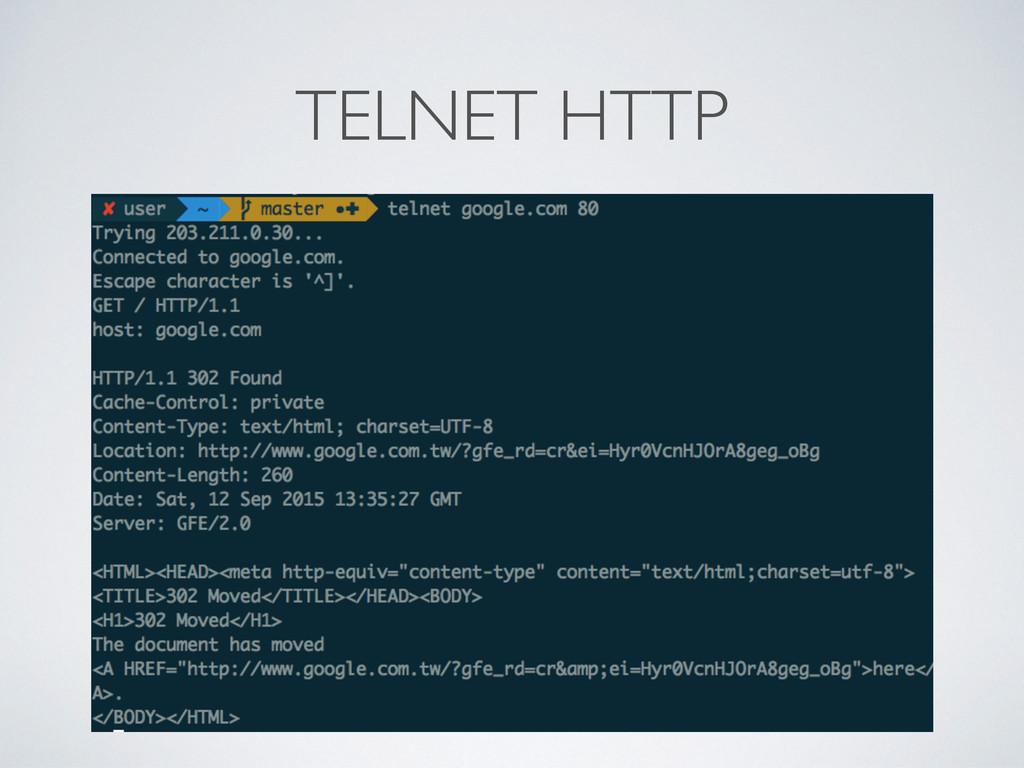 TELNET HTTP