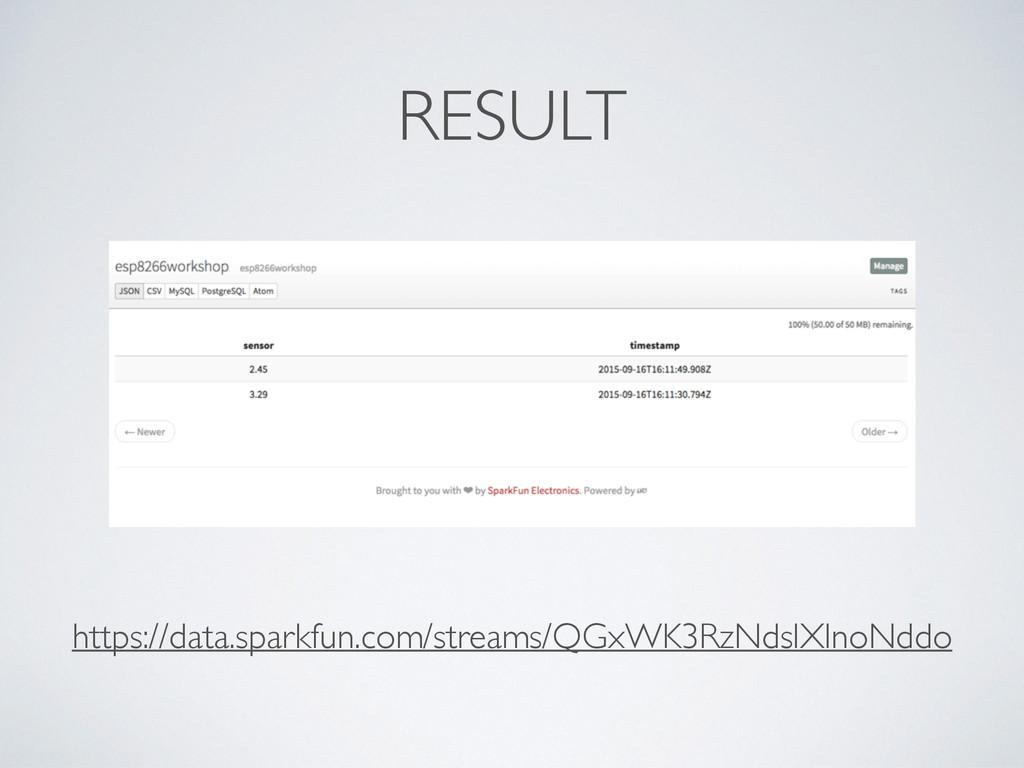 RESULT https://data.sparkfun.com/streams/QGxWK3...