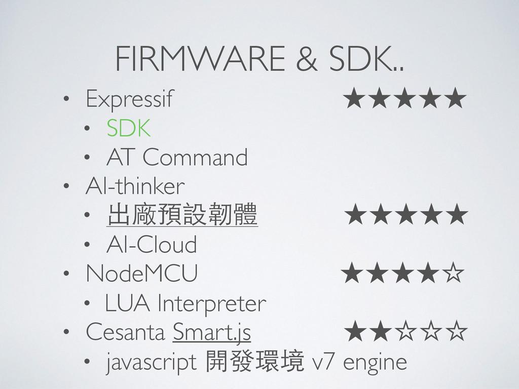 FIRMWARE & SDK.. • Expressif ★★★★★ • SDK • AT C...
