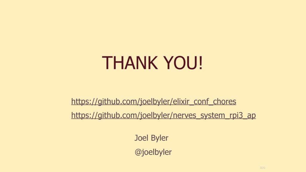THANK YOU! SDG https://github.com/joelbyler/eli...