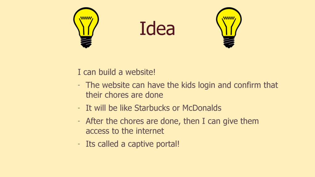 Idea I can build a website! - The website can h...