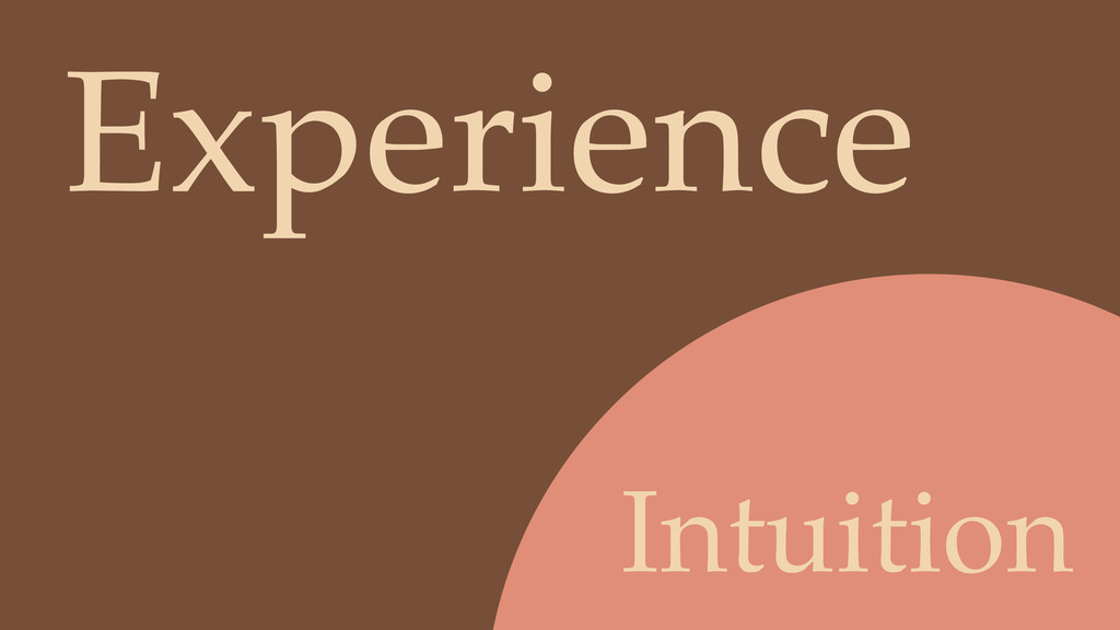 Intuition Experience