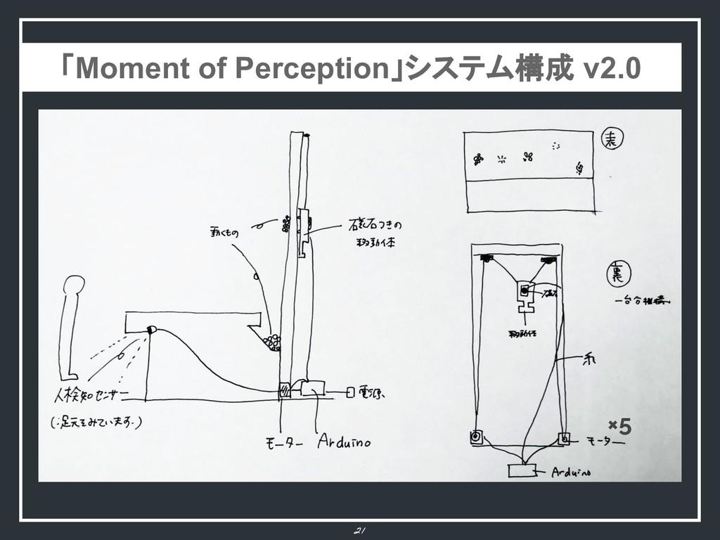 21 ×5 「Moment of Perception」システム構成 v2.0