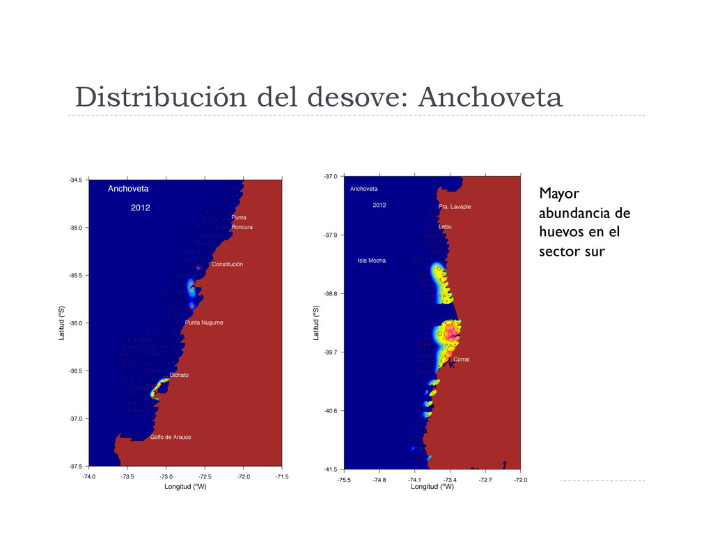 Distribución del desove: Anchoveta Mayor abunda...