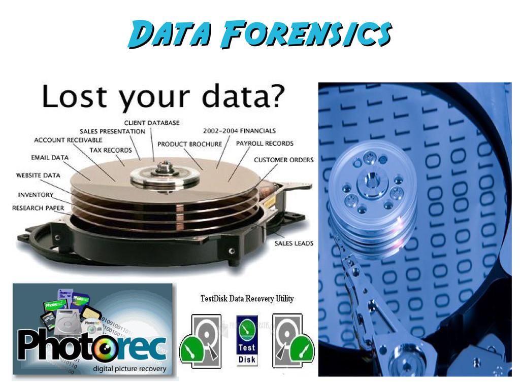 Data Forensics Data Forensics