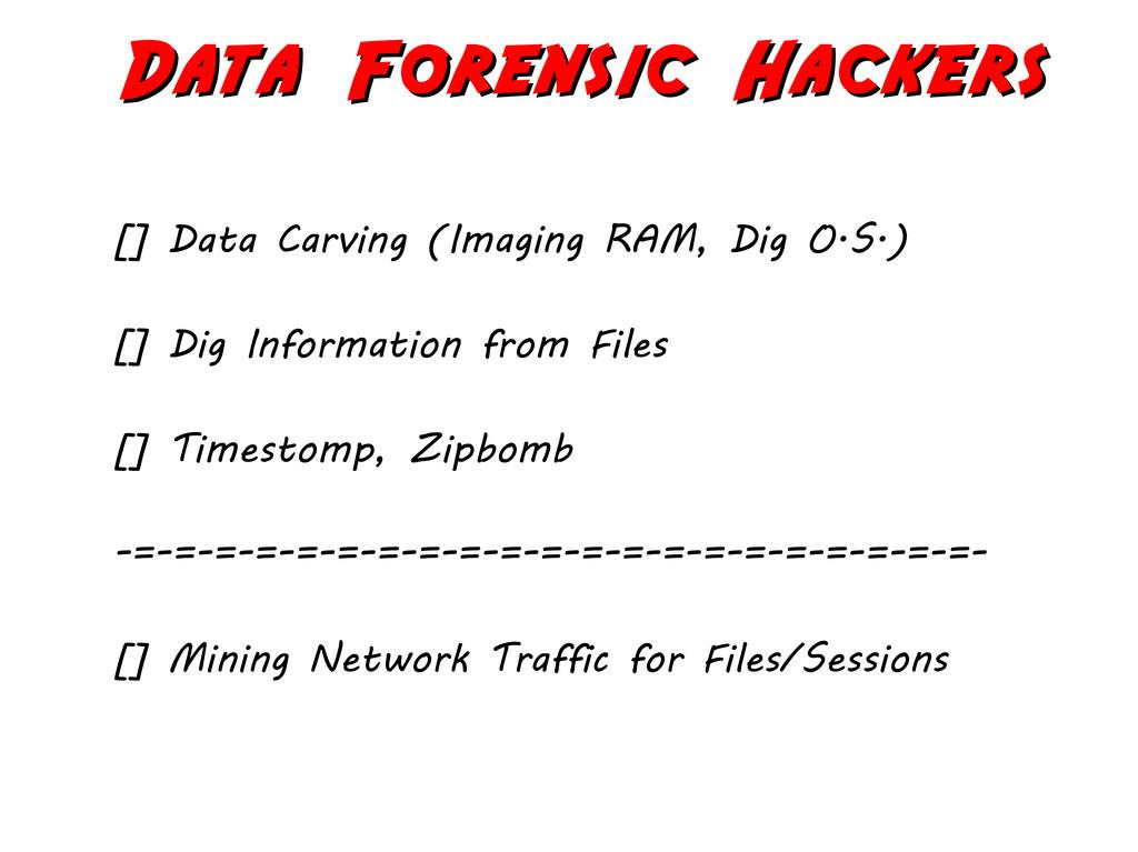 Data Forensic Hackers Data Forensic Hackers [] ...
