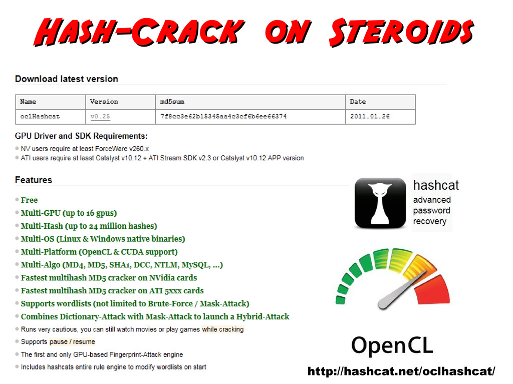 Hash-Crack on Steroids Hash-Crack on Steroids h...