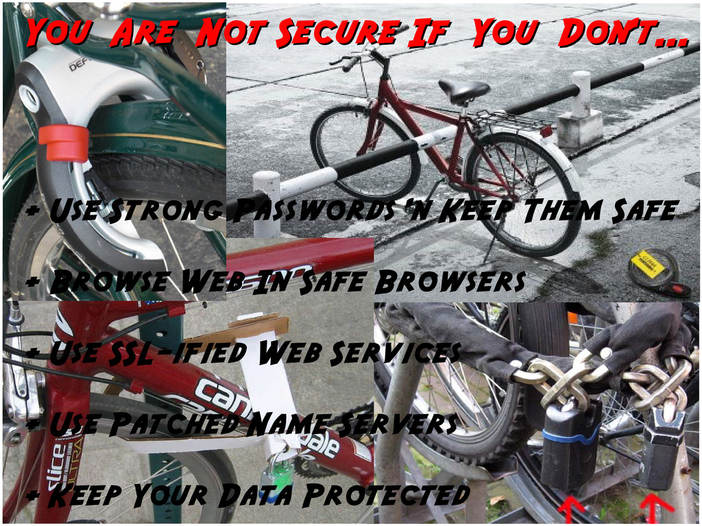 You Are Not Secure If You Don't... You Are Not ...