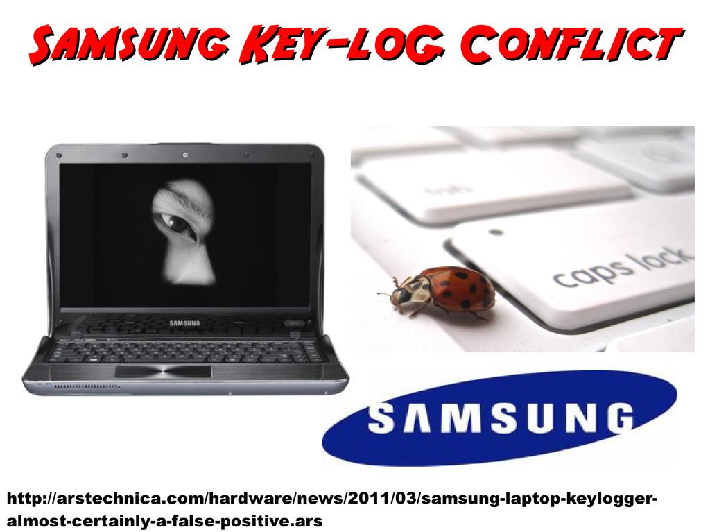 Samsung Key-loG Conflict Samsung Key-loG Confli...