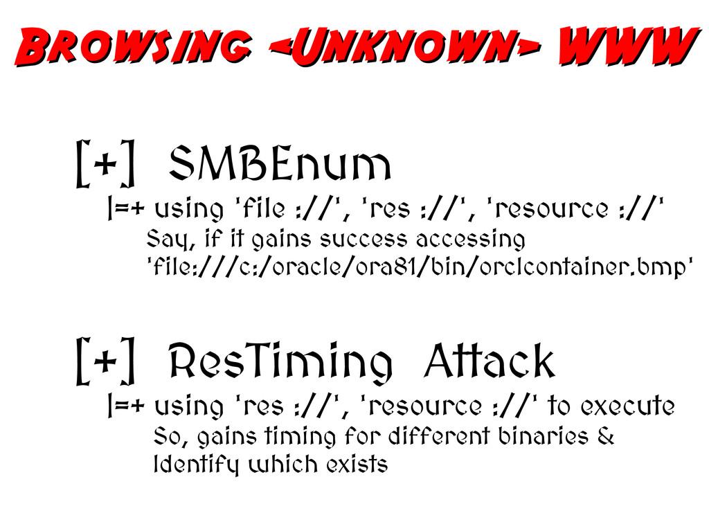 Browsing <Unknown> WWW Browsing <Unknown> WWW [...