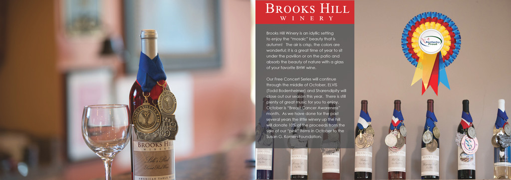 Brooks Hill Winery is an idyllic setting to enj...