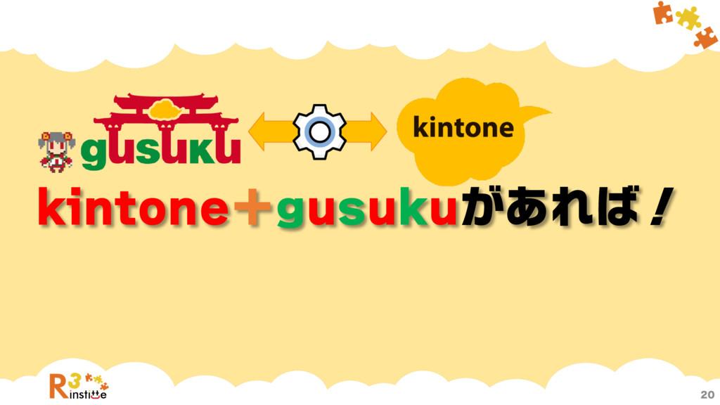 kintone+gusukuがあれば!