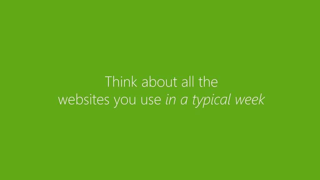 Think about all the websites you use in a typic...