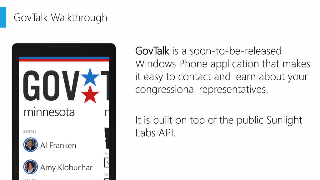 GovTalk is a soon-to-be-released Windows Phone ...