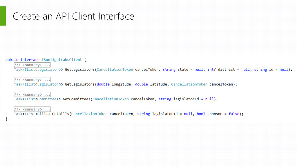 Create an API Client Interface