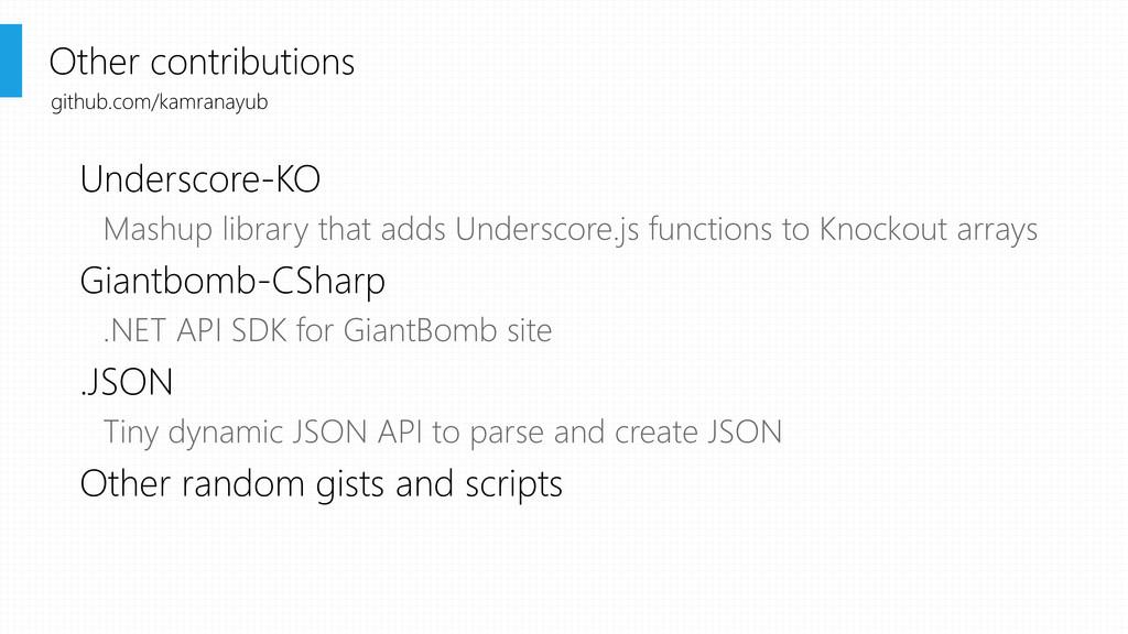 Underscore-KO Mashup library that adds Undersco...