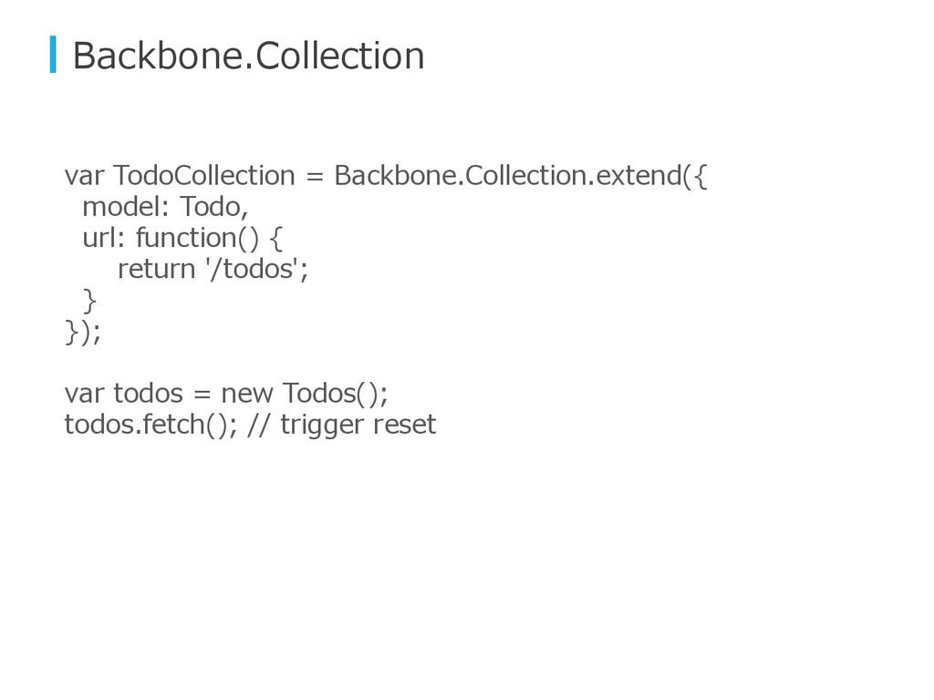 Backbone.Collection var TodoCollection = Backbo...