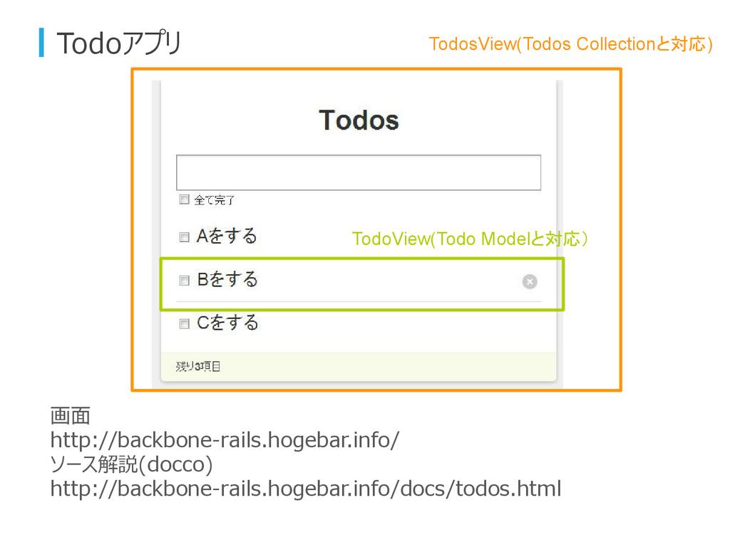 Todoアプリ 画面 http://backbone-rails.hogebar.info/ ...