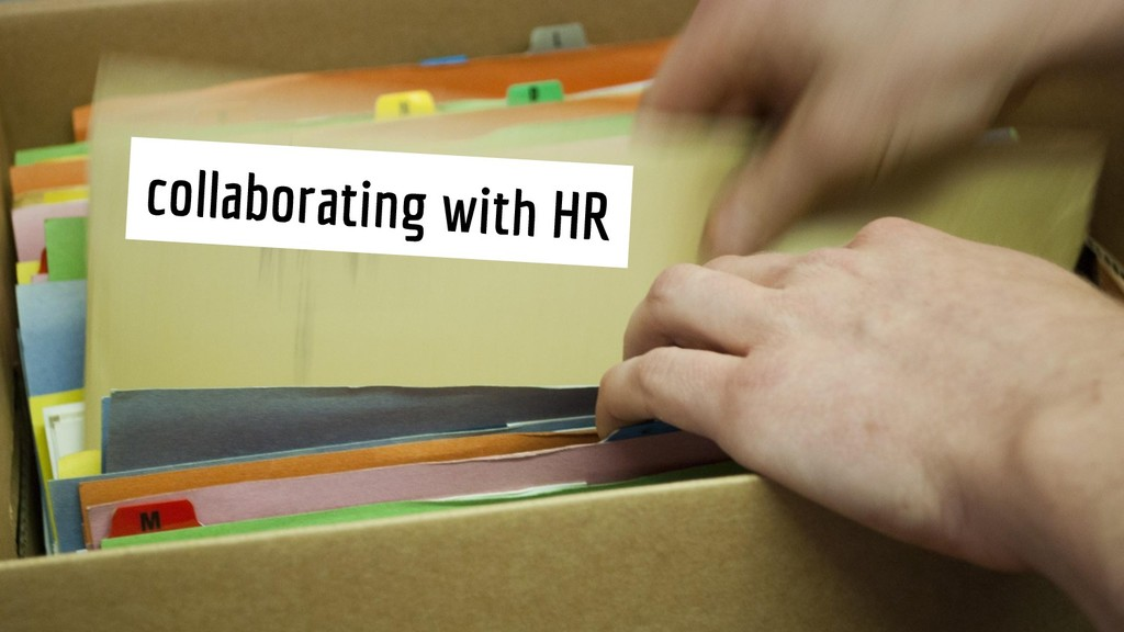 collaborating with HR