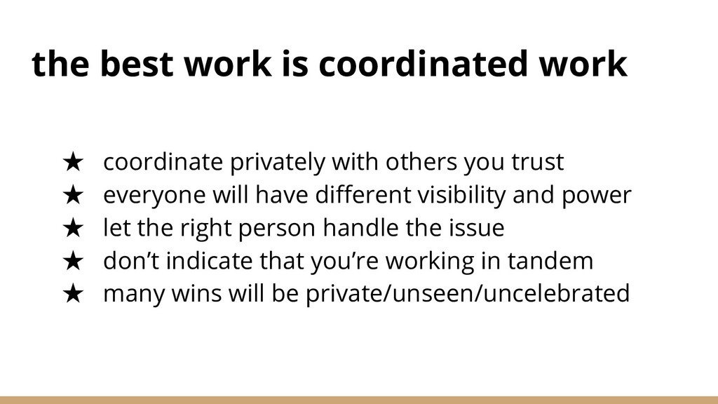 the best work is coordinated work ★ coordinate ...