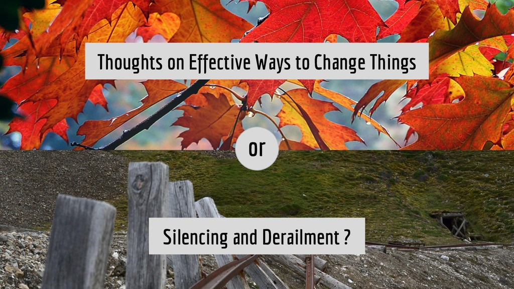 Thoughts on Effective Ways to Change Things Sil...