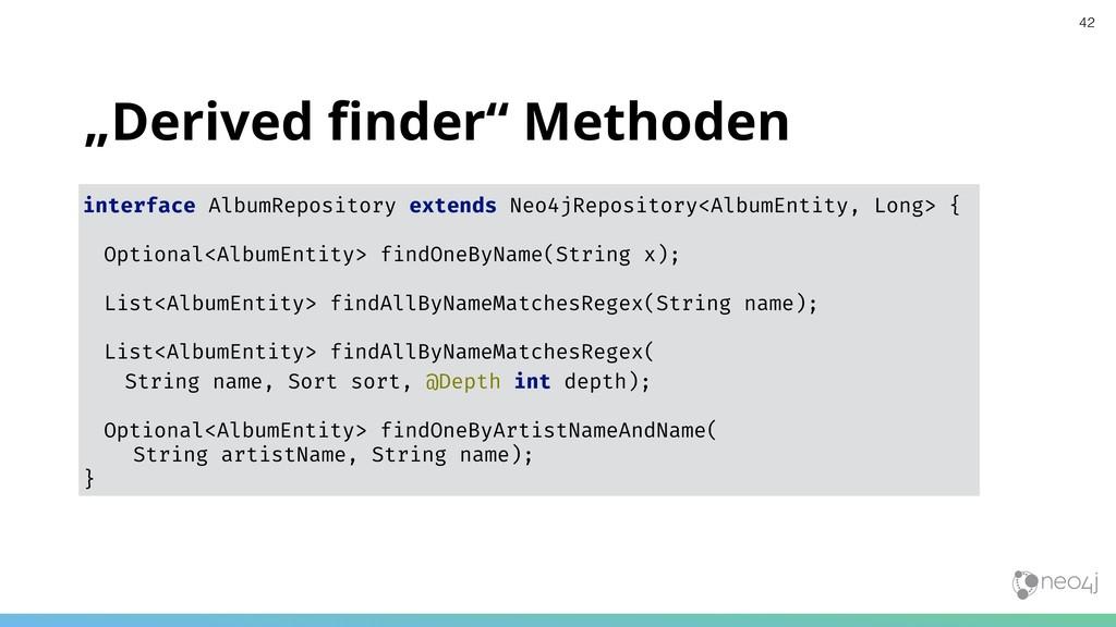 """Derived finder"" Methoden interface AlbumReposit..."