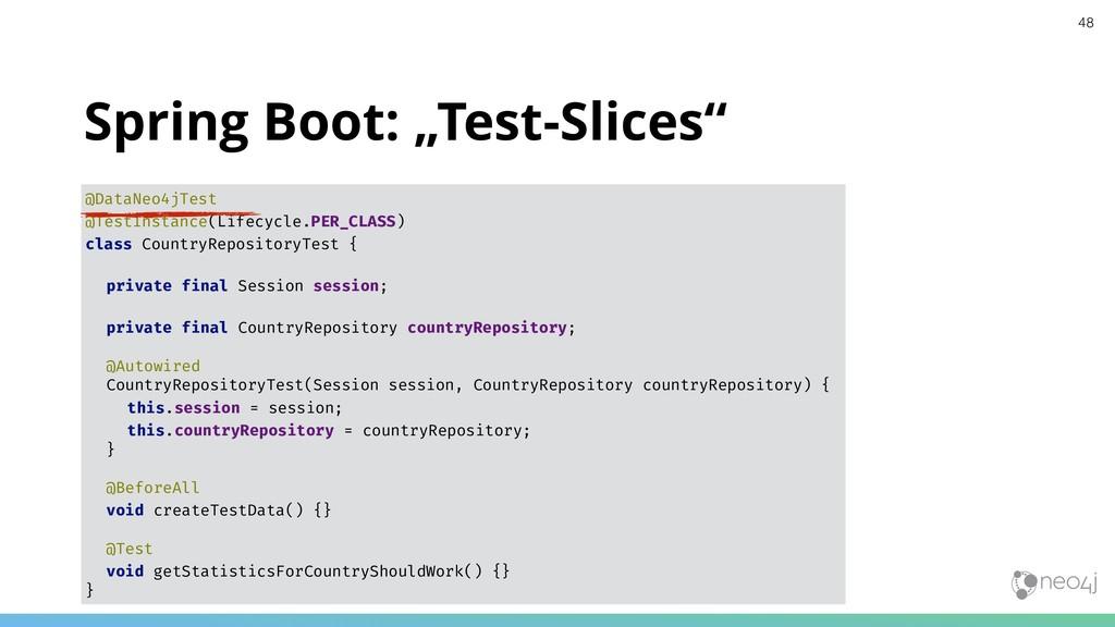 "Spring Boot: ""Test-Slices"" @DataNeo4jTest @Test..."