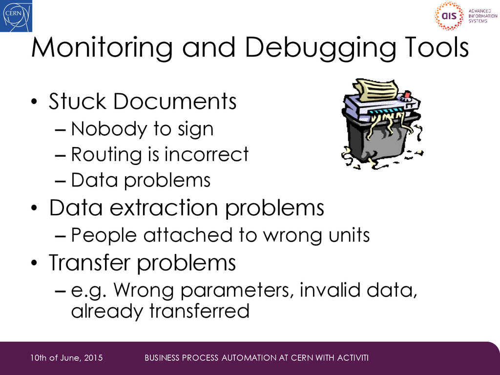 Monitoring and Debugging Tools • Stuck Document...