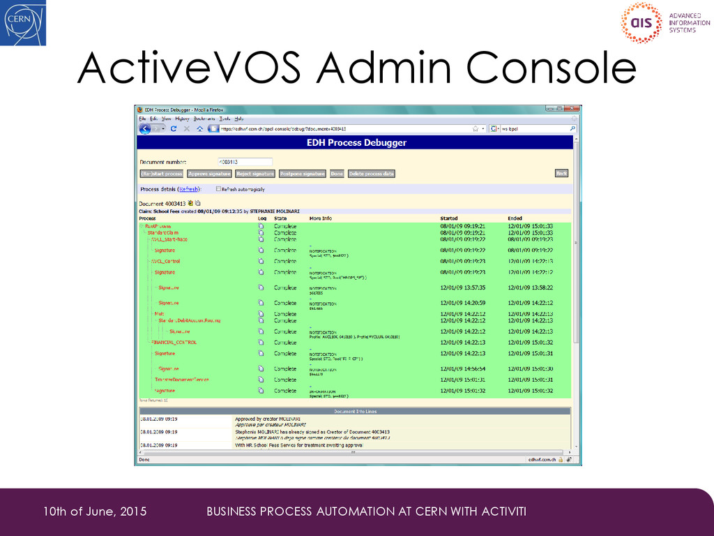 ActiveVOS Admin Console 10th of June, 2015 BUSI...
