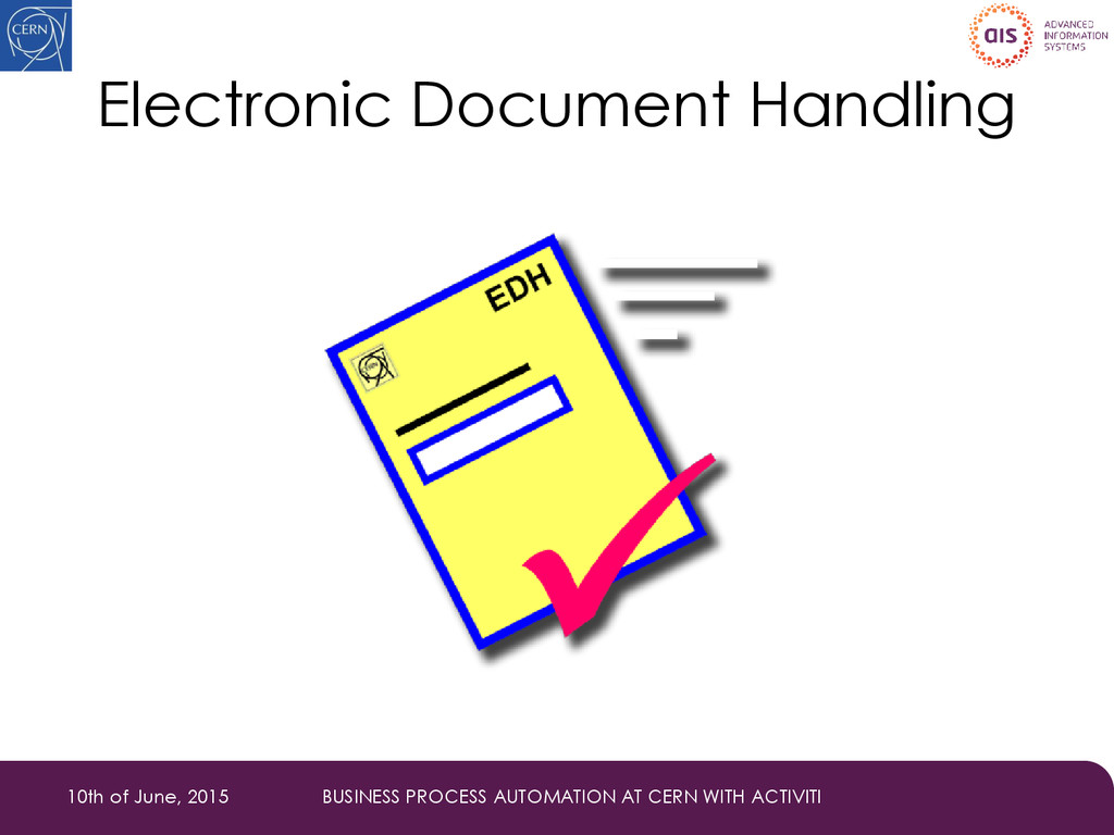 Electronic Document Handling 10th of June, 2015...