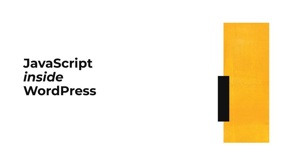 JavaScript inside WordPress