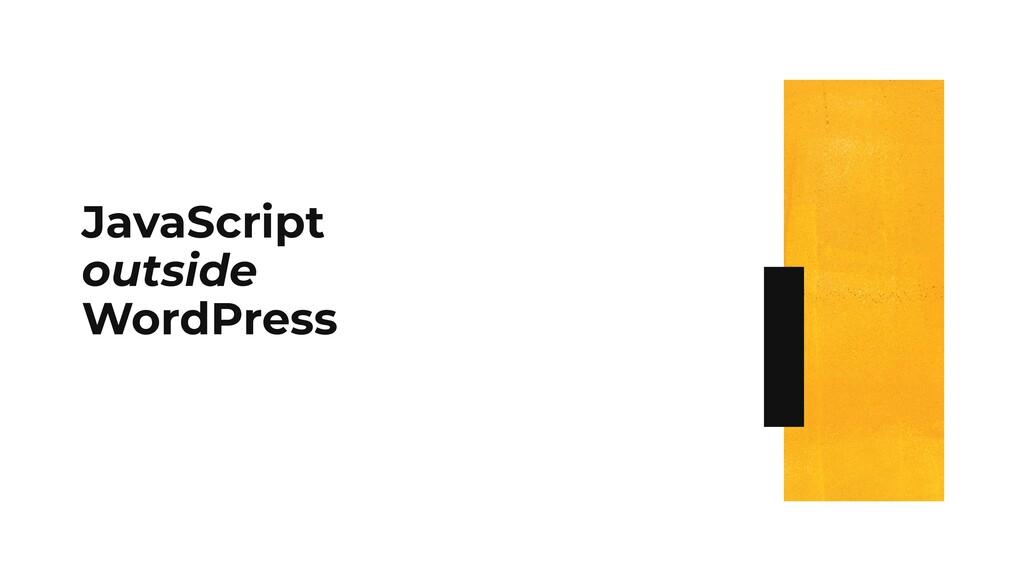 JavaScript outside WordPress