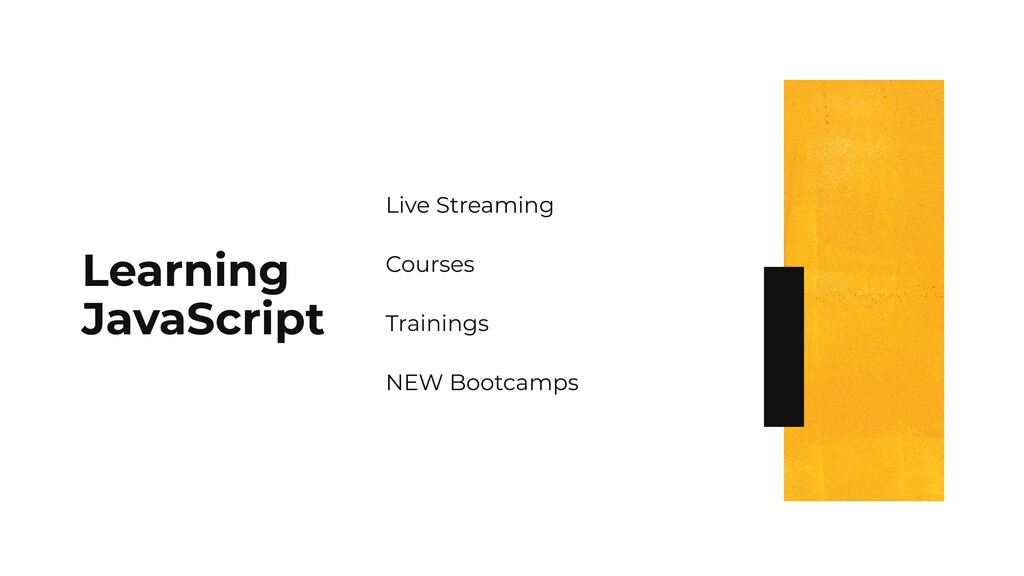 Learning JavaScript Live Streaming Courses Trai...