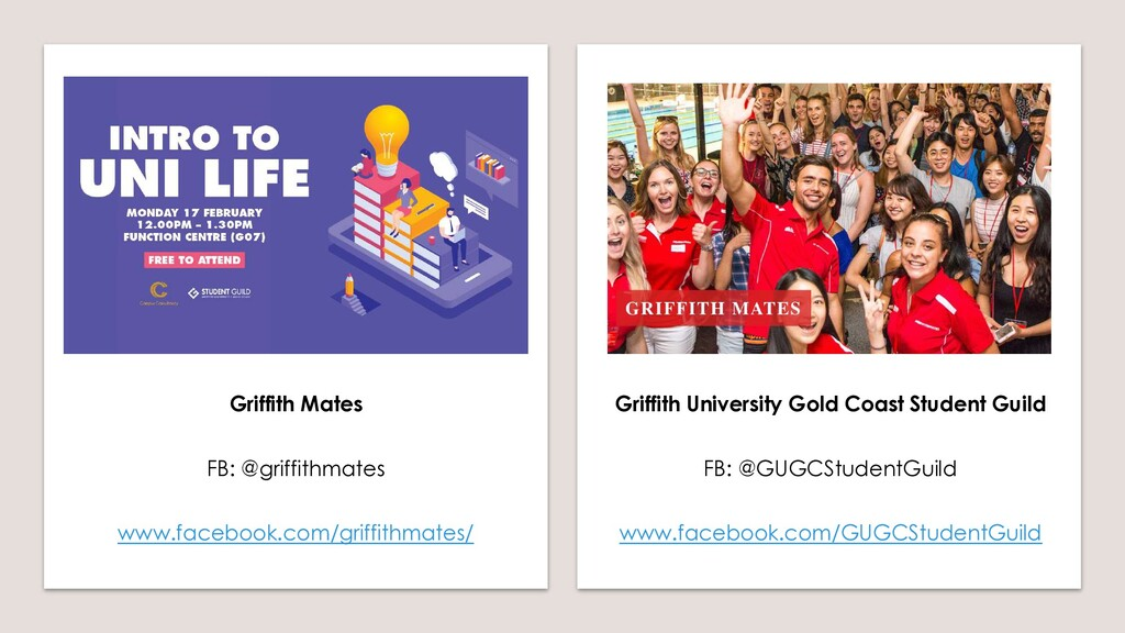 Griffith Mates FB: @griffithmates www.facebook....