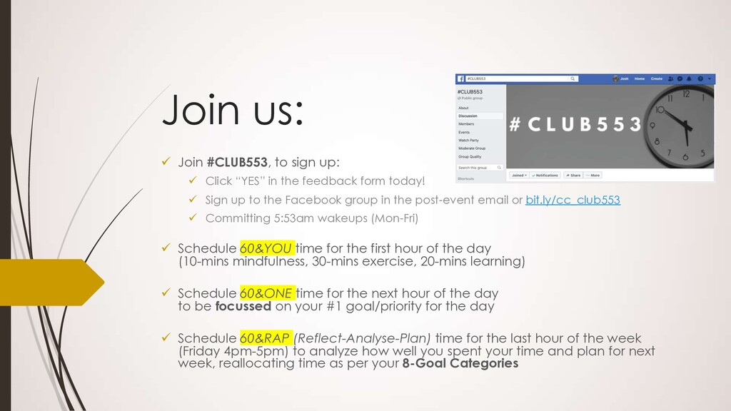 "Join us: ü Join #CLUB553, to sign up: ü Click ""..."