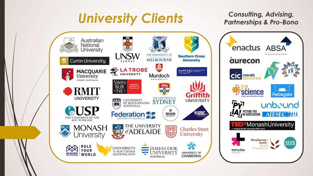 University Clients Consulting, Advising, Partne...