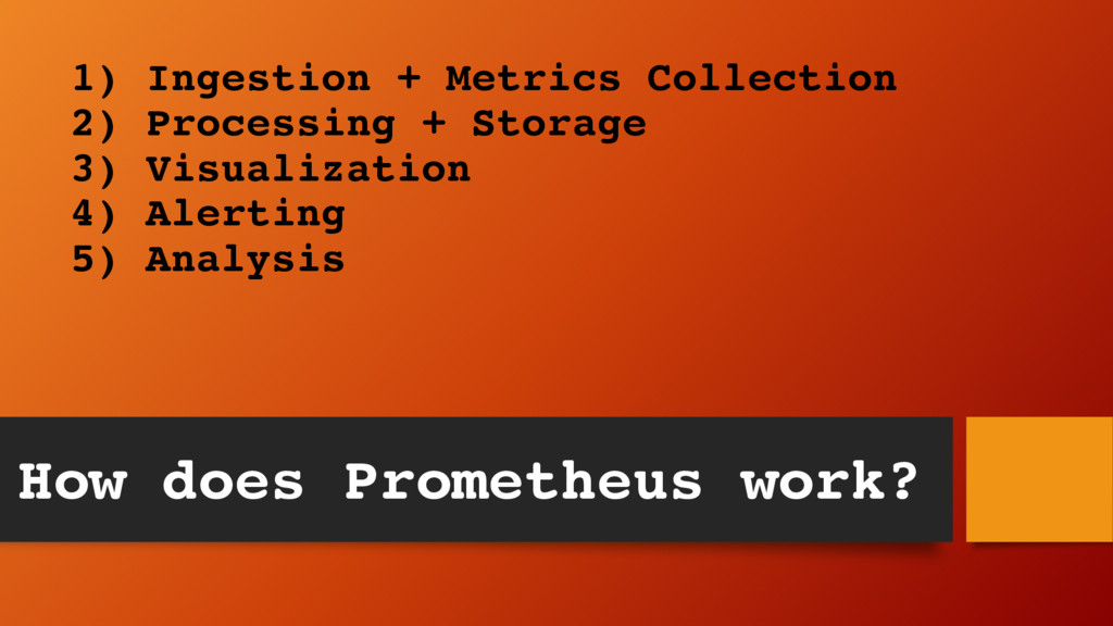 1) Ingestion + Metrics Collection 2) Processing...